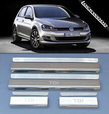 VW Golf 13  TDI (5Dr) Stainless Steel Kick Plate Car Door Sill Protectors - 8pce