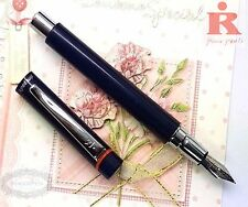 Pirre Paul's 325A Fountain Pen BLUE BLACK +5 cartridges BLACK ink