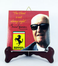 Enzo Ferrari Ceramic Tile with Quote Made in Italy Scuderia F1 Mod.1