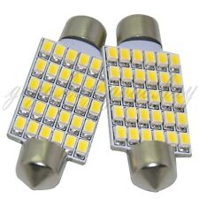 "2 x 30-SMD Warm White LED Bulbs for Car Interior Dome Light 1.72"" Festoon 212-2"