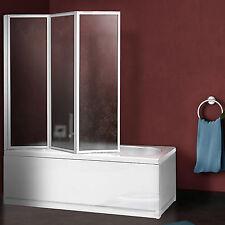 Sopravasca 133 cm acrilico reversibile con profili alluminio bianco altezza 140h