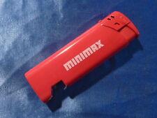 GO Feuerzeug mit Werbeaufschrift MINIMAX mit Flaschenöffner Sammler selten TOP
