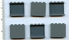 LEGO x 6 Dark Bluish Gray Panel 1 x 4 x 3 with Side Supports Hollow Studs NEW
