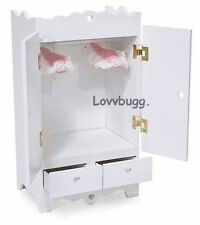 """White Wardrobe Armoire Furniture for 18"""" American Girl Doll Clothes! Lovvbugg!"""