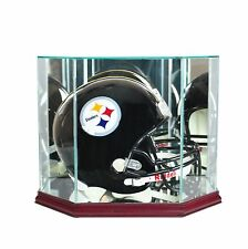 F/S Glass Football Helmet Display Case  New UV MADE IN USA  Free Shipping!!!
