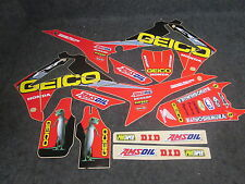 Honda CRF250 2014-2017 CRF450 2013-16 Team Geico graphics + plastic kit GR1432