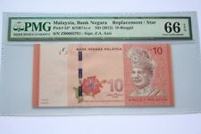 (PL) RM 10 ZB 0002791 PMG 66 EPQ 3 ZERO LOW NUMBER REPLACEMENT UNC