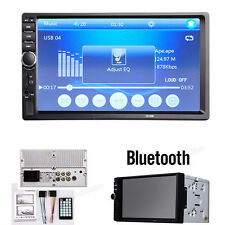 7'' LCD Bluetooth 2 DIN in-Dash Car Stereo Audio MP3 Player FM Radio TouchScreen