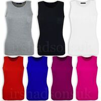 Kids Girls Ribbed Vest Top 100% Cotton Summer T Shirt 5 6 7 8 9 10 11 12 13 Year