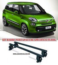 KIT BARRE TETTO PORTAPACCHI PORTATUTTO PER NEW FIAT 500 L .