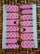 Minnie Mouse nail wraps just like Jammberry~ Lasts 10 days ~ FREE SAME DAY SHIP!