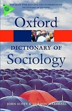 A Dictionary of Sociology by Gordon Marshall, John Scott (Paperback, 2009)