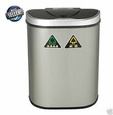 18 Gallon Garbage Can Trash Bin Motion Sensor Touchless Lid, Stainless Steel