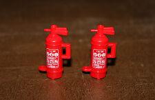 Playmobil vie quotidienne lot de 2 extincteurs rouges de pompier