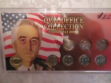 Roosevelt Dime Collection: Seven coins in custom holder