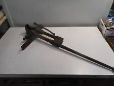 Antique Vintage Blacksmith Post Leg Bench Vise Vice 37 inches tall 4 inch jaws