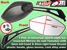PAIR OF UNIVERSAL STREET SPORTS MIRRORS 8MM THREAD TO FIT YAMAHA YB100 V90 Etc
