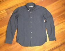Outlier nyco oxford navy ls button up small
