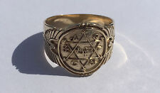 King Solomon Ring of Power Prosperity, Handmade Solid  Gold