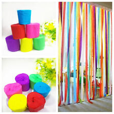 New! Party Celebrate Wedding Birthday Decorations Crepe Paper Streamer Roll 6Pcs