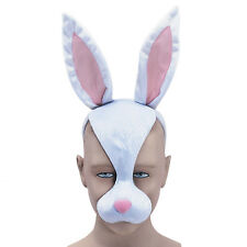 RABBIT EYE MASK WITH SOUND WHITE ANIMATION FANCY DRESS ANIMAL KINGDOM