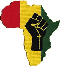 Africa Rasta Hand iron on/sew on cloth patch  (cv)
