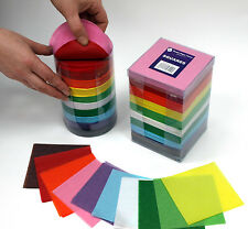 Tissue Paper Bumper Tissue SQUARES Tower 4600 Pieces in10 Bright Colors 100 mm