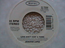 "JENNIFER LOPEZ  ""LOVE DON'T COST A THING"" WHITE LAEBL PROMO 7"" 45 MINT- 1995"