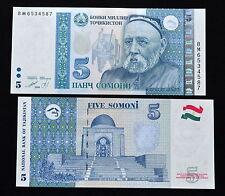 Tajikistan 5 Somoni 1999. P-23. UNC. 1PCS.  Asian.