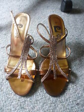 Pierre Cardin gold sparkly party sandals size 36 never worn