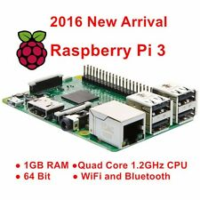 Raspberry Pi 3 Modell B 1GB RAM Quad Core 1,2GHz 64 Bit CPU Bluetooth WiFi