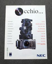F704-Advertising Pubblicità- 2000 - NEC LCD DLP SVGA XGA SXGA CAD CAM