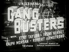 Gang Busters - Classic Cliffhanger Movie Serial DVD Kent Taylor Irene Hervey