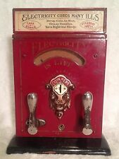 Early 1900's Original Mills Electric Shock Machine Penny Arcade Trade Stimulator