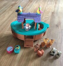 Fisher Price Little People Noahs Ark  good condition With Noah 8 Animals Extras