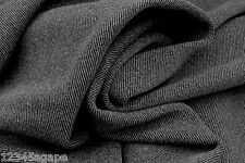 D/8  70%WOOL 20%CASHMER 10%TENCAL DARK GREY YARN DYE CAVALRY TWILL MADE IN ITALY
