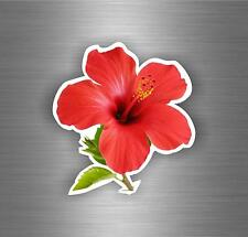 Sticker decal art wall car moto biker funny hibiscus flower vinyl outside r5