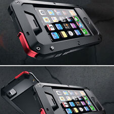 Shock/Dust/Water Proof Aluminum Metal Case with Gorilla Glass For iPhone 5C