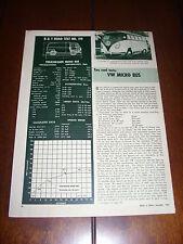 1957 VW VOLKSWAGEN MICRO BUS  - ORIGINAL VINTAGE ARTICLE