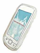 SILIKON TPU COVER HANDY CASE TRANSPARENT für SAMSUNG i5800  + DISPLAYSCHUTZFOLIE
