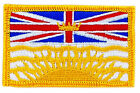 FLAG PATCH PATCHES BRITISH COLOMBIA PROVINCIAL IRON ON EMBROIDERED SMALL CANADA