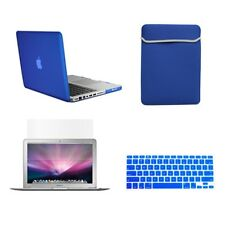 "4 in1 Rubberized ROYAL BLUE Case for Macbook PRO 13"" +Keyboard Cover + LCD + Bag"