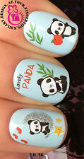 NAIL ART WRAP WATER TRANSFERS STICKERS DECALS SET PANDA GLITTER SNOWMAN #15