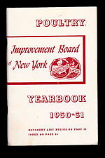 Poultry Improvement Board of New York Yearbook 1950-51 w Hatchery List