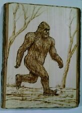 Bigfoot Sasquatch Handmade Woodburning