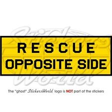 "RESCUE OPPOSITE SIDE Aircraft Stencil RAF USAF NATO 100mm (4"") Sticker Decal"