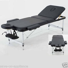 "Aluminum 84""L 3-Section Portable Massage Table Facial SPA Bed Tattoo Carry Case"