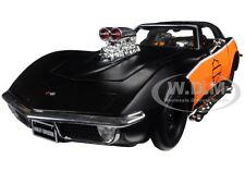1970 CHEVROLET CORVETTE HARLEY DAVIDSON BLACK/ORANGE 1:24 DIECAST MAISTO 32193