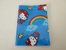 Passport Cover Vintage Hello Kitty Rainbow Fabric & Vinyl Protector