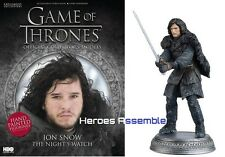 GAME OF THRONES COLLECTOR'S MODELS #2 JON SNOW EAGLEMOSS FIGURINE HBO